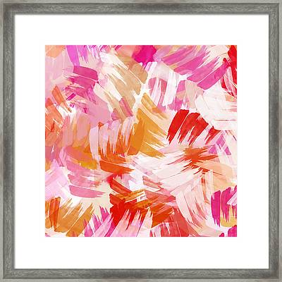 Abstract Paint Pattern Framed Print by Christina Rollo