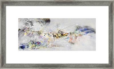 Abstract Painting - New Ideas  Framed Print by Jean Moore