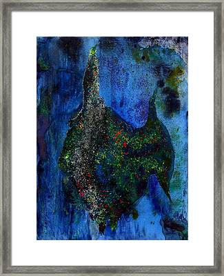Abstract Painting Of Angelfish Framed Print by Mario Perez