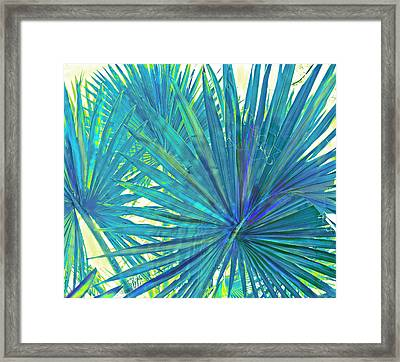 Abstract Palm 2 Framed Print by Jane Schnetlage