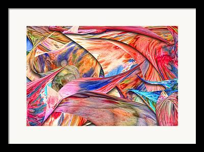 Suburban Mixed Media Framed Prints