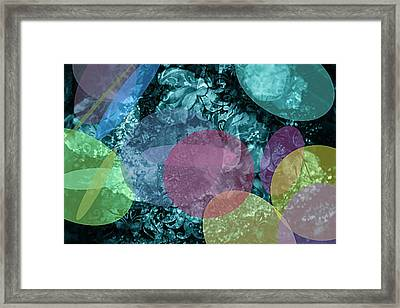 Abstract Pastel Circles Framed Print by Maggie Vlazny