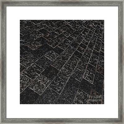 Abstract Path With Dark Background Framed Print by Ken Schulze