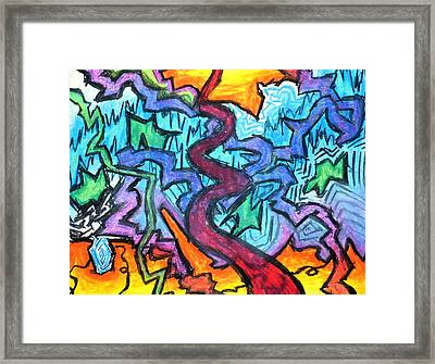 Abstract Paths Framed Print by Jera Sky
