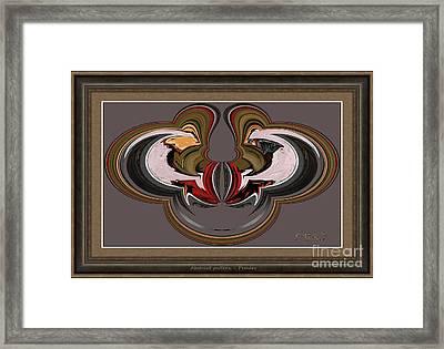 Abstract Pattern Apatt2 Framed Print by Petko Pemaro