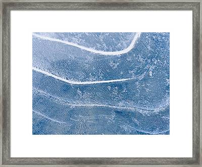 Abstract Patterns In The Ice During Framed Print