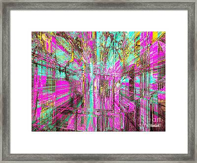 Framed Print featuring the glass art Abstract Peace by Fania Simon