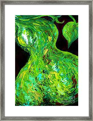 Abstract Pear Framed Print by Eloise Schneider