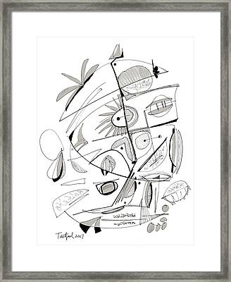 Abstract Pen Drawing Sixty-seven Framed Print