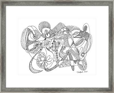 Abstract Pen Drawing Thirty-eight Framed Print