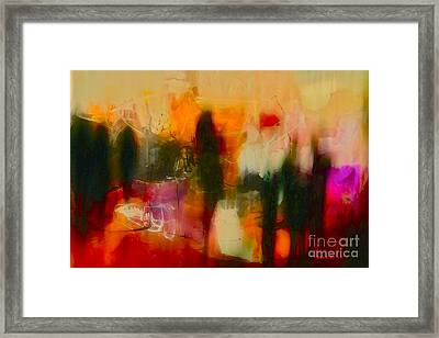 Framed Print featuring the photograph Abstract People by Danica Radman