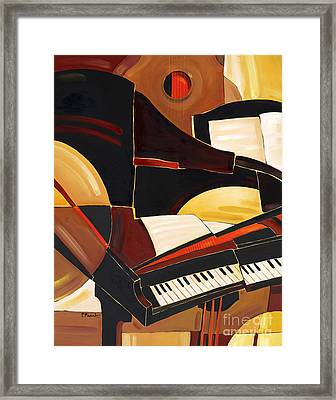 Abstract Piano Framed Print by Paul Brent