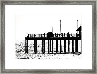 Abstract Pier Framed Print by David Warrington