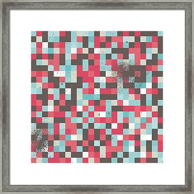 Abstract Pixel Art Framed Print by Mike Taylor