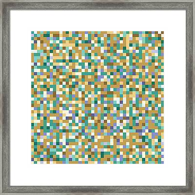 Framed Print featuring the digital art Abstract Pixels by Mike Taylor