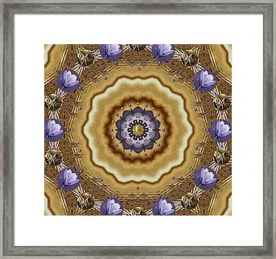 Abstract Pond In Gold Framed Print