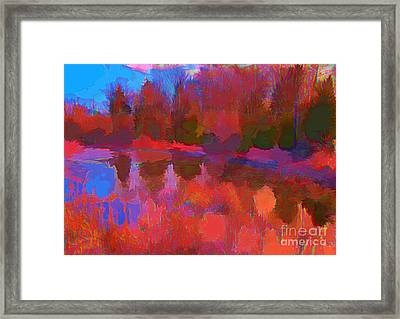 Abstract Pond Framed Print