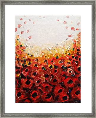 Abstract Poppies 2 Framed Print