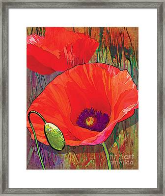Abstract Poppy B Framed Print by Grace Pullen