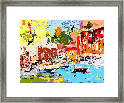 Abstract Portofino Italy Framed Print by Ginette Callaway
