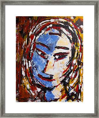 Abstract Portrait #3 Framed Print