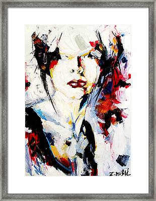 Abstract Portrait  Framed Print by Zlatko Music