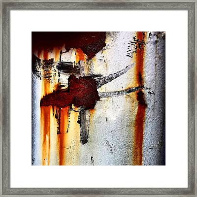 Abstract Post Framed Print