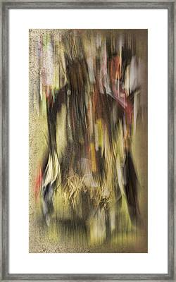 Abstract Pow Wow Dancer Framed Print by Thomas Young