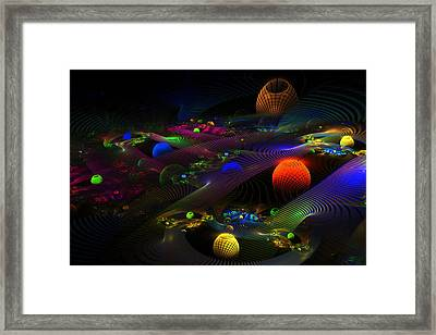 Abstract Psychedelic Fractal Art Framed Print