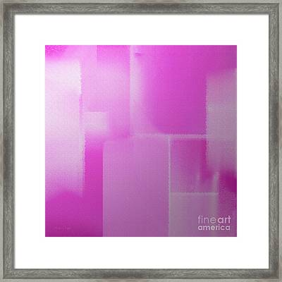 Abstract Radiant Orchid Square Framed Print