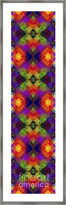 Abstract - Rainbow Connection - Panel - Panorama - Horizontal Framed Print by Andee Design