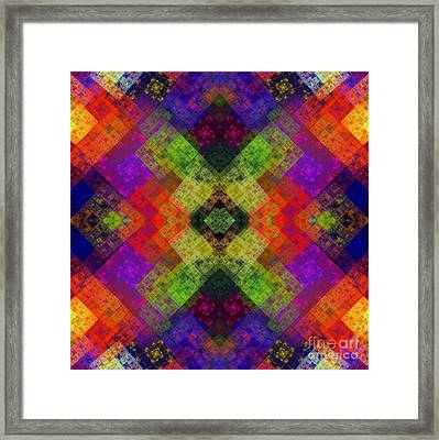 Abstract - Rainbow Connection - Square Framed Print by Andee Design