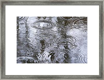 Abstract Raindrops Framed Print by Christina Rollo