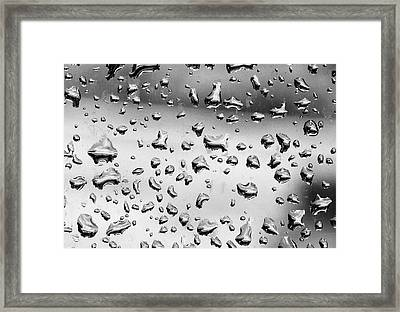 Abstract Raindrops  Framed Print by Susan Stone