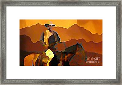Abstract Range Riding Framed Print