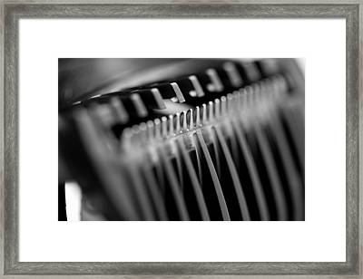 Abstract Razor Framed Print
