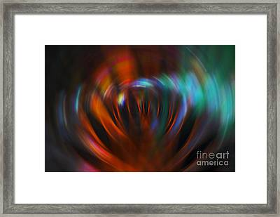 Abstract Red And Green Blur Framed Print by Marvin Spates