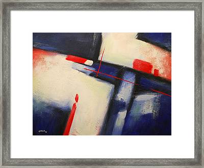 Abstract Red Blue Framed Print