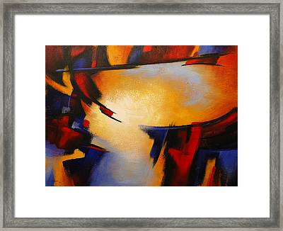 Abstract Red Blue Yellow Framed Print
