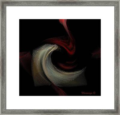 Abstract -red-gold-black Framed Print by Ines Garay-Colomba