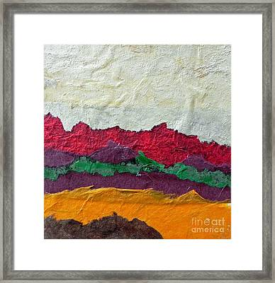 Abstract Red Hills Framed Print