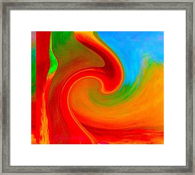 Abstract Red Splendor Framed Print
