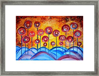 Abstract Red Symphony Framed Print