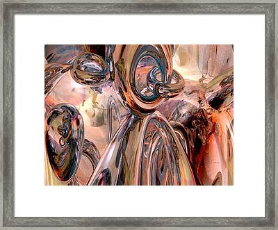 Abstract Reflecting Rings Framed Print by Phil Perkins