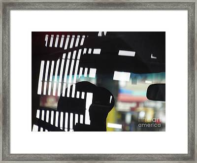 Abstract Reflection 18 Framed Print by Sarah Loft