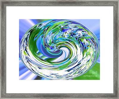 Abstract Reflections Digital Art #3 Framed Print