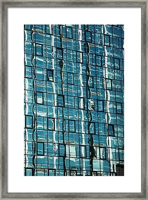Abstract Reflections In Windows Framed Print by Artur Bogacki