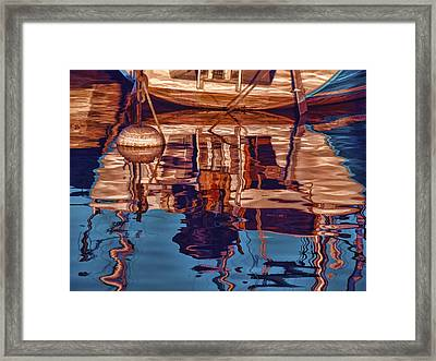 Framed Print featuring the painting Abstract Reflections by Muhie Kanawati