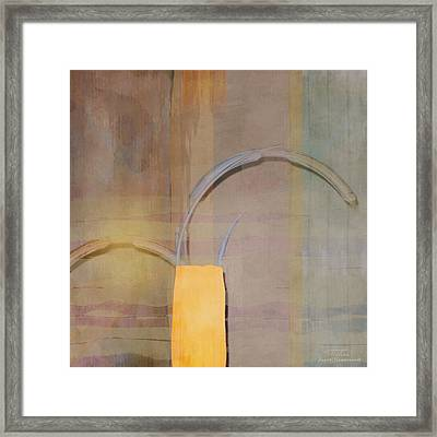 Abstract Right Bow On Grey Framed Print