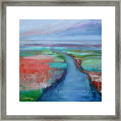 Abstract River Framed Print by Donna Tuten